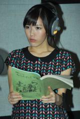 アニメ映画『ねらわれた学園』公開アフレコを行ったAKB48・渡辺麻友 (C)ORICON DD inc.