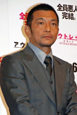 映画『アウトレイジ ビヨンド』のジャパンプレミアに登壇した中野英雄 (C)ORICON DD inc.