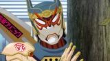 折紙サイクロン(CV:岡本信彦)。能力は「擬態化」。HERO TVの中継では見きれてスポンサーロゴをアピールすることに燃えているヒーロー 『劇場版 TIGER & BUNNY -The Beginning-』 (C)SUNRISE/T&B MOVIE PARTNERS