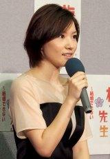 スペシャルドラマ『梅ちゃん先生〜結婚できない男と女スペシャル〜』について会見した徳永えり (C)ORICON DD inc.