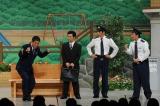 10月14日放送の『熱血!人情派コメディ しゃかりき駐在さん』に月亭八方がゲスト出演 (C)ABC