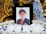 今月2日に肺カルチノイドのため41歳の若さで亡くなった金子哲雄さんの遺影 (C)ORICON DD inc.