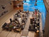 『館長庵野秀明 特撮博物館』で再現された映画『巨神兵東京に現わる』の撮影セット。特撮撮影現場の雰囲気や記念撮影を楽しむ人で連日にぎわっていた