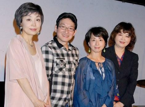 ラジオ番組『クミコのきっとツナガルラジオ』の公開収録を行った(左から)クミコ、春風亭昇太、阿川佐和子、残間里江子 (C)ORICON DD inc.
