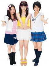 「ミスマガ2011」3人娘が新ユニット「REaaaL!」を結成(左から綾乃美花、朝倉由舞、秋月三佳)