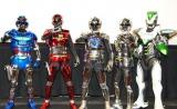 ヒーロー集合!(左から)シャイダー、シャリバン、新ギャバン、初代ギャバン、ワイルドタイガー( TIGER&BUNNY)  (C)ORICON DD inc.