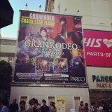 9月末より東京・渋谷スペイン坂に掲示されているGRANRODEOの巨大広告。