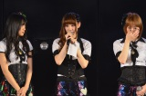SNH48に移籍する鈴木まりや(中央)の壮行会も行われた ※写真左から北原里英、鈴木、小林香菜 (C)AKS
