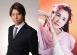 舞台『真田十勇士』に真田幸村役で主演する上川隆也(左)と主題歌を担当する中島みゆき