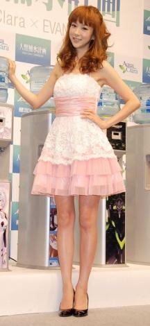 アクアクララ「宅配水」新商品発表会にゲストとして出席したほしのあき (C)ORICON DD inc.
