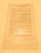 リンカーン直筆のサインが記された実物の「奴隷解放宣言書」がお披露目=映画『リンカーン/秘密の書』公開記念イベント (C)ORICON DD inc.