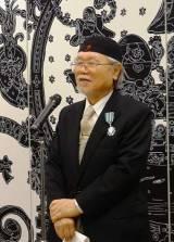 松本氏による喜びのスピーチ