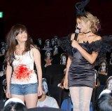 映画『パラノーマル・アクティビティ4』の公開前夜祭 ハロウィンイベントに参加した(左から)ケイティ(シリーズ主人公)、ローラ (C)ORICON DD inc.