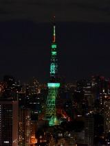 「WOWOW Green」に浮かび上がる東京タワー(C)WOWOW