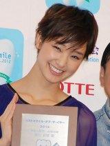 『ベストスマイル・オブ・ザ・イヤー2012』授賞式に出席した剛力彩芽 (C)ORICON DD inc.