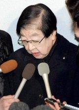 森光子さんの本葬に参列した石井ふく子 (C)ORICON DD inc.