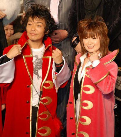 最新作『ONE PIECE FILM Z』ブルーカーペットイベントに出席した(左から)山口勝平と大谷育江 (C)ORICON DD inc