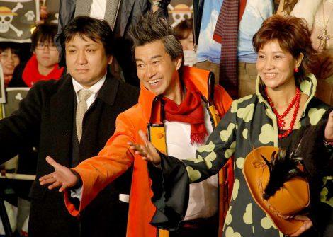 最新作『ONE PIECE FILM Z』ブルーカーペットイベントに出席した(左から)長峯達也監督、チョー、山口由里子 (C)ORICON DD inc