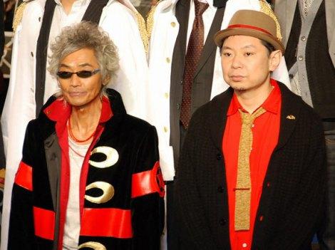 最新作『ONE PIECE FILM Z』ブルーカーペットイベントに出席した(左から)矢尾一樹、脚本の鈴木おさむ (C)ORICON DD inc