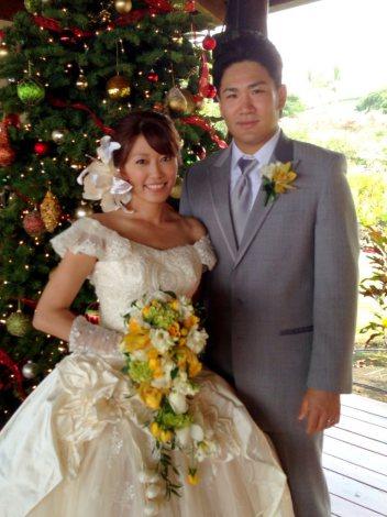 サムネイル ハワイ島にて結婚式を行った里田まいと東北楽天ゴールデンイーグルス・ 田中将大選手