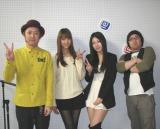 (左から)MCの「あきげん」石井、佐々木、サブMC・高橋まどか、MCの「あきげん」秋山。