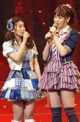 小嶋陽菜(右)の面白コメントに大島優子(左)ら総ツッコミ(撮影:鈴木一なり)