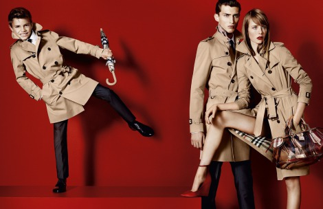 サムネイル バーバリー2013年春夏コレクション広告キャンペーンに起用されたロメオ・ベッカム(左�