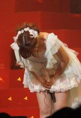「第2回AKB48紅白対抗歌合戦」で卒業を発表した河西智美【撮影:鈴木一なり】