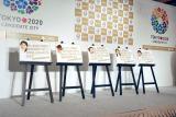 東京2020オリンピック・パラリンピックの招致プロモーション『楽しい公約プロジェクト』発表記者会見でお披露目された著名人の公約 (C)ORICON DD inc.