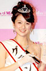 『Miss of Miss Campus Queen Contest 2012』本選大会でグランプリに選ばれた立命館大学・高橋加奈代さん (C)ORICON DD inc.