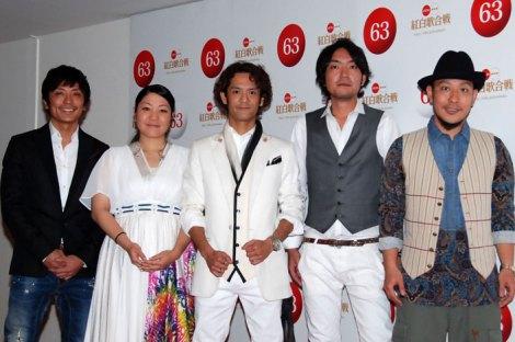 『第63回NHK紅白歌合戦』のリハーサルに臨んだHY (C)ORICON DD inc.
