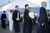 中村勘九郎を先頭に、七之助、妻の波野好江さん、前田愛と続く勘三郎さんの遺族 (C)ORICON DD inc.