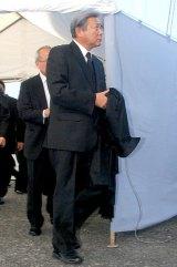 歌舞伎俳優の中村勘三郎さんの本葬に参列した小倉智昭 (C)ORICON DD inc.