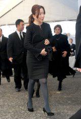 歌舞伎俳優の中村勘三郎さんの本葬に参列した真矢みき (C)ORICON DD inc.
