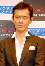 WOWOWの連続ドラマW『女と男の熱帯』の試写で舞台挨拶に出席した渡部篤郎 (C)ORICON DD inc.