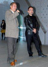 NHK『たけし アート☆ビートSP』の取材会でに出席した(左から)ビートたけし、ヤノベケンジ氏 (C)ORICON DD inc.