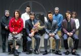 (前列左から)天野浩成、鈴木光司氏、MAKIDAI、町田啓太、(後列左から)星田良子氏、小澤雄太、貞子、野替愁平、長谷部優 (C)ORICON DD inc.