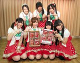 栃木のアイドル・とちおとめ25。前列左からメイ、あい、くるみ、かりん、後列左からまお、まどか、あんな(C)De-View