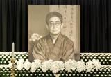 大島渚さんの遺影が飾られた祭壇 (C)ORICON DD inc.