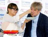 ネスレ日本のインターネット料理番組『ギャル曽根レシピ 第3弾』の公開収録イベントに出席したギャル曽根&名城ラリータ氏夫妻 (C)ORICON DD inc.
