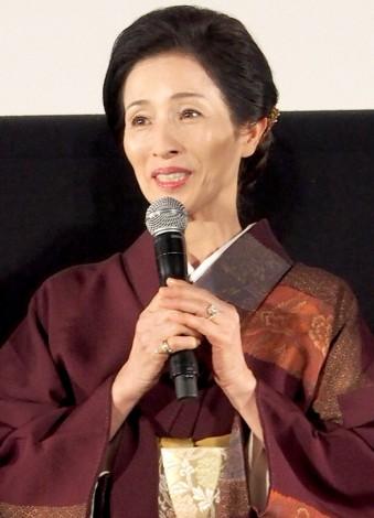 映画『きいろいゾウ』の完成披露イベントに出席した松原智恵子 (C)ORICON DD inc.