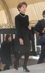 新栄プロダクション会長・西川幸男さんの本葬に参列した元妻の五月みどり (C)ORICON DD inc.