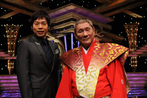 『KAMIWAZA〜神芸〜2013』記者会見に出席した(左から)総合司会の今田耕司、ゼネラルマネージャーのビートたけし
