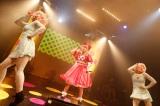 「CANDY CANDY」「ふりそでーしょん」などのヒット曲、忍者をテーマにした新曲「にんじゃりばんばん」を含む合計20曲を披露 PHOTO by 石井亜希