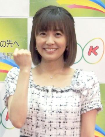 NHK語学番組の発表記者会見に登場した小林麻耶 (C)ORICON DD inc.