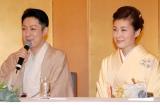 幸せそうに微笑む尾上菊之助と波野瓔子さん=婚約報告会見 (C)ORICON DD inc.