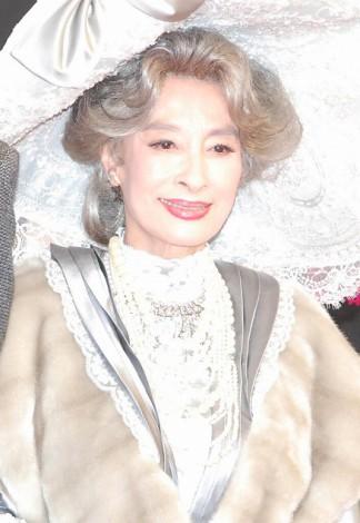 ミュージカル『MY FAIR LADY』製作発表記者会見に出席した江波杏子 (C)ORICON DD inc.