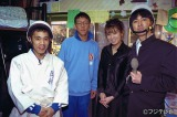 写真は1996年放送の『ヨモギダ少年愚連隊1』(左から)岡村隆史、ヨモギダ君、雛形あきこ、矢部浩之
