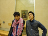(左から)小栗旬と桐谷健太 (C)日本テレビ