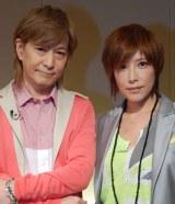 「GyaOライブトーク」に出演した(左から)小室哲哉、YU-KI(TRF) (C)ORICON DD inc.